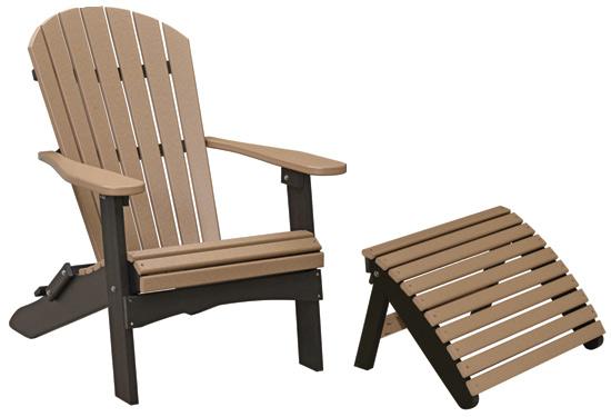 comfo-back folding adirondack chair - american plastic furniture